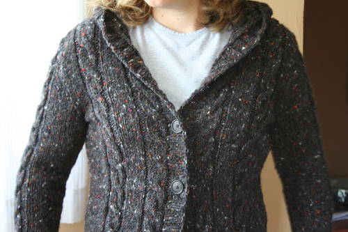 Central Park Hoodie in Tahki Donegal Tweed | by ElinorB