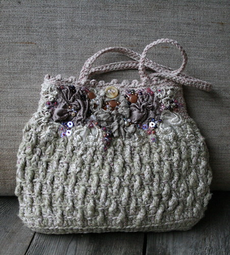 Crochet Evening Purse Pattern : purse crocheted and embellished evening purse ...