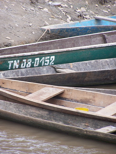 Boats on Rio Napo | by The Hungry Cyclist