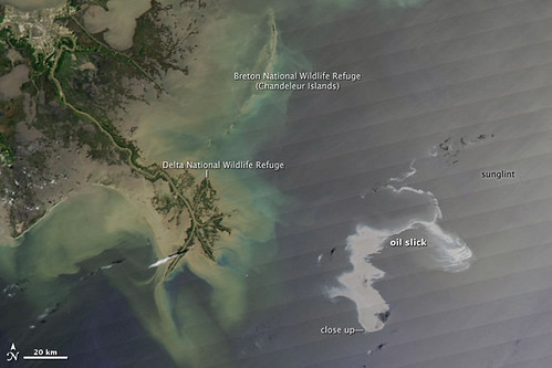 Oil Leak from Damaged Well in Gulf of Mexico April 25th [Detail with Description] | by NASA Goddard Photo and Video