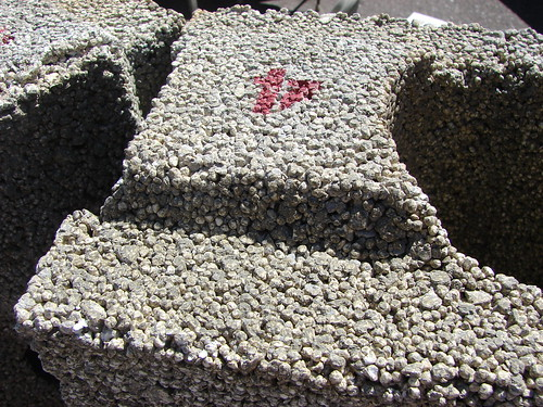 Styrofoam Building Material : Styrofoam building material concrete is poured though