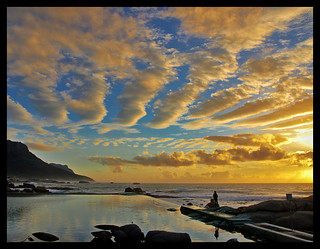 Sunset at Camps Bay - with a bonus | by neilalderney123