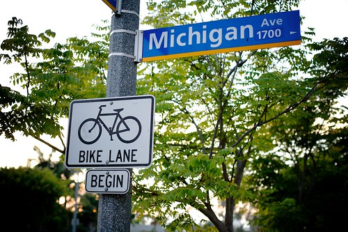 Bike Lane Begin On 17th And Michigan Ave | by Gary Rides Bikes