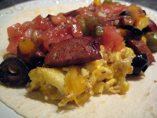 Chorizo and Egg Breakfast Burrito | Egg, Turkey and Chicken ...