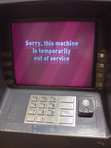 Sorry This Machine Is Temporarily Out Of Service This