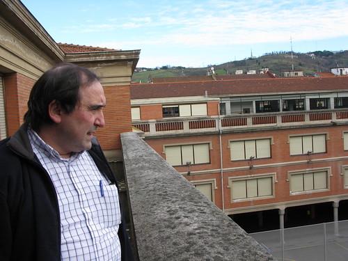 Javier Aguirregabiria Aguirre en el Colegio de Escolapios de Bilbao