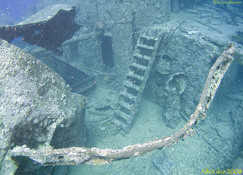SS Thistlegorm - Stairs to main deck | by alfonsator