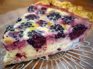 Blackberry Custard Pie slice | by swampkitty