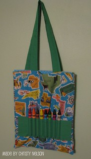 Coloring Book And Crayon Tote Bag Tutorial Tutorial Found Flickr