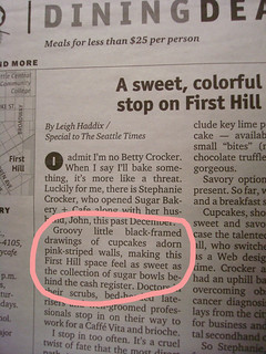 Cakespy In the Seattle Times! | by cakespy