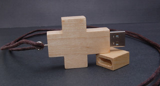Wooden Cross USB Drive | by CustomUSB.com