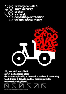 Poster for Danish Cargo Bike Championships 2010 / Svajerløb [UK version] | by Mikael Colville-Andersen