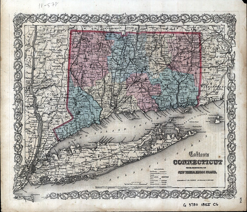Colton's Connecticut: with portions of New York and Rhode Island | by uconnlibrariesmagic