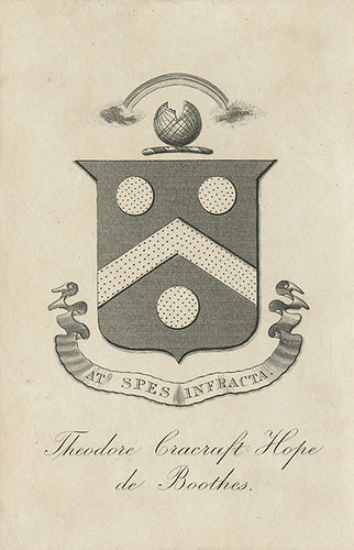[Bookplate of Theodore Cracraft Hope de Boothes] | by Pratt Institute Library