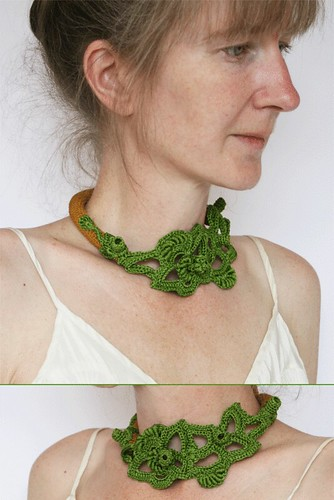 Green and Gold necklace No17 | by findevogel