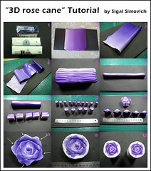 """3D rose cane"" Tutorial 