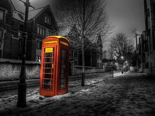 Telephone in Selective Colour | by Mylkinut