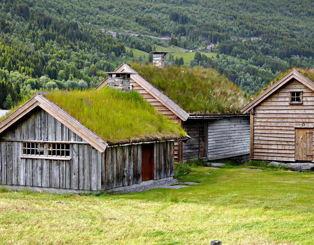 Old houses in Norway