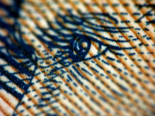 Paper money, extreme macro | by kevin dooley