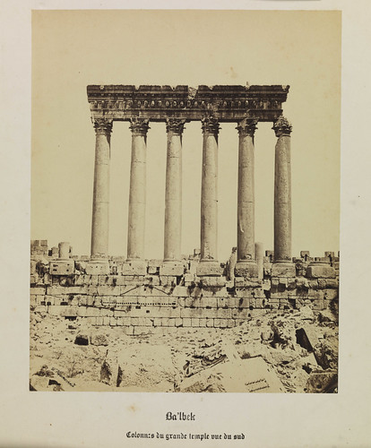'Ba'lbek, Collones du Grande Temple, vue du sud', (Baalbek (Lebanon) Columns of the Great Temple, view from the south) | by National Media Museum