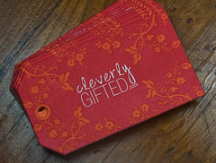 Letterpress Business Card: Cleverly Gifted (front) | by smokeproof
