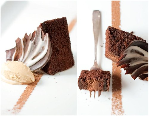 Chocolate Espresso Mousse Cake & Latte Ice Cream | by tartelette