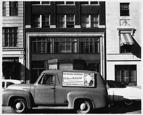 Interview Series, Newbury Street, Between Berkeley and Arlington Streets, Boston Herald Delivery Car with Winston Churchill Advertisement, 10:30 A.M. to 1:00 P.M. | by MIT-Libraries