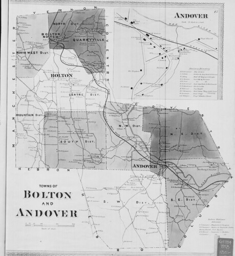 Towns of Bolton and Andover. (Petersen Collection) | by uconnlibrariesmagic