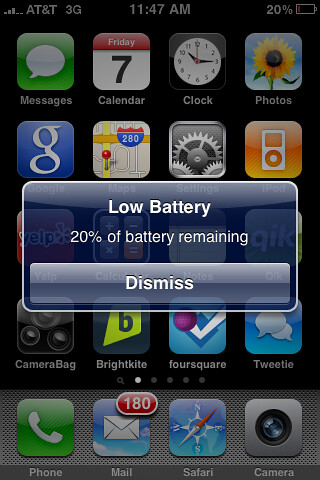 iPhone 3GS Low Battery | by stevegarfield