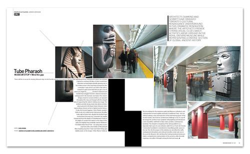 tube pharaoh canada subway modern design magazine november 2088