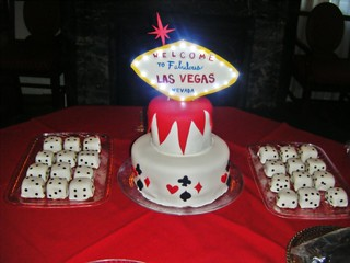 Cake with custom light up las vegas sign flickr photo sharing