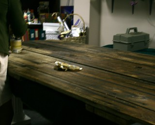 Staining the Barn Door Table Top | Staining and finishing ...