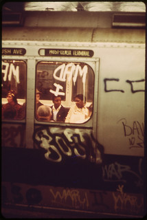 Many Subway Cars in New York City Have Been Spray-Painted by Vandals. 05/1973 | by The U.S. National Archives