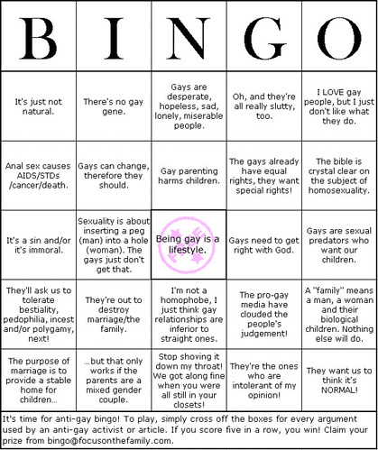 Anti-Gay Bingo | by Liz Henry