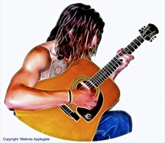 Young Man Playing Guitar (Photoshop Fractalius Filter) | by Scandblue
