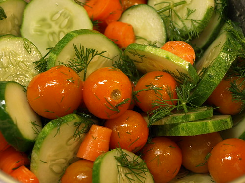 Summer Food | Cucumber, tomato, carrot and dill salad, all ...