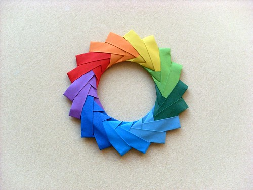 Origami Color Wheel | by 0nce