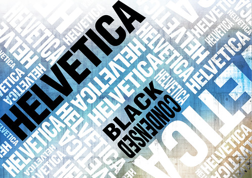 Helvetica poster Blue | by ECKO Design Group