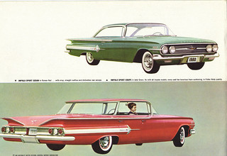 1960 Chevrolet Impala 2 and 4 door Hardtop | by coconv