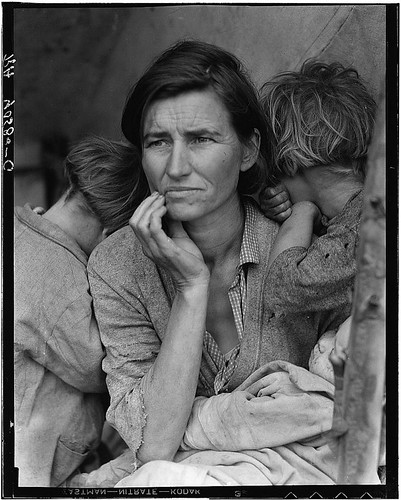 Destitute pea pickers in California. Mother of seven children. Age thirty-two. Nipomo, California (LOC) | by The Library of Congress