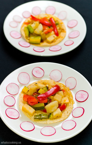 Scallop and vegetable tostadas | by arimou0