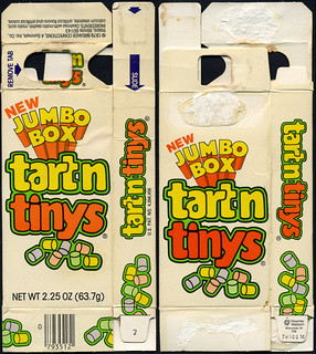 "Breaker Confections - pre-Willy Wonka - Tart'n Tinys ""New Jumbo box"" candy box - 1979 
