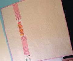 Girly Baby Quilt Back | by alissahcarlton