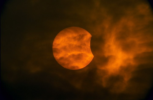 partial solar eclipse | by Mavroudakis Fotis