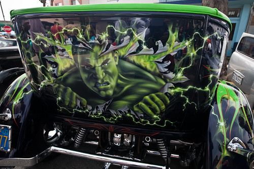 Hulk Paint Job On Car