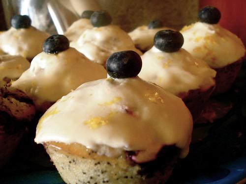 Lemon Blueberry Yogurt Pound Cake