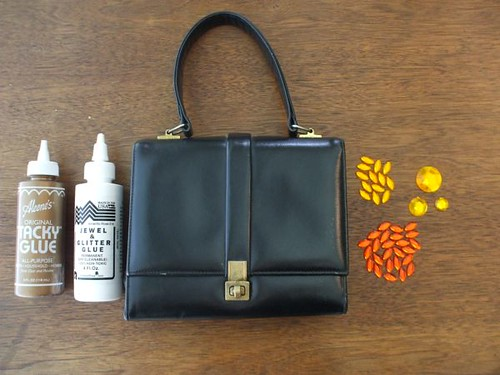 materials for the handbag project | by susanstars