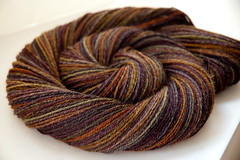 Handspun All Spun Up sw merino/alpaca blend in Ko'olina | by Bockstark Knits