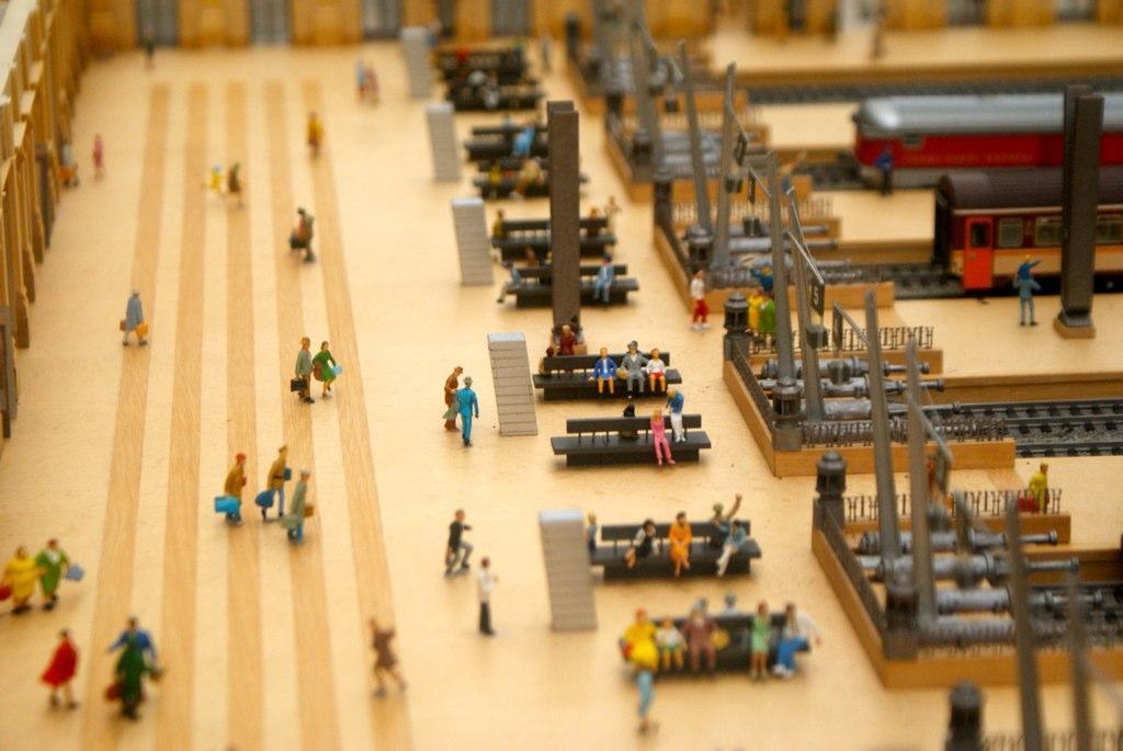 Venir à Barcelone en train, ici une maquette de la gare de France (Estació de França).