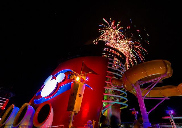 Fireworks Aboard The Disney Magic